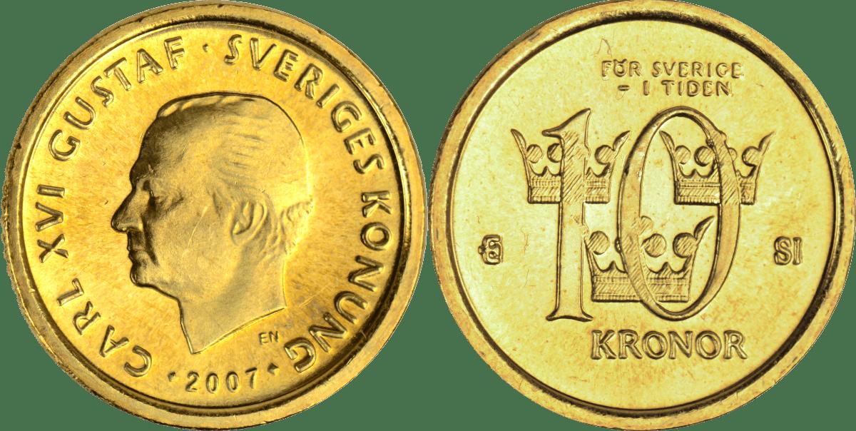 10-krona fram och baksida